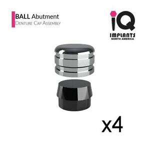 Iq Usa Ball Abutment Denture Replacement Housing Assembly 4 Pack