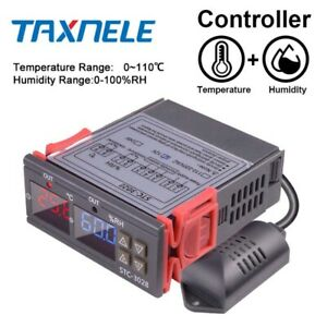 Dual Digital Temperature Humidity Controller Stc 3028 Thermometer Hygrometer 10a