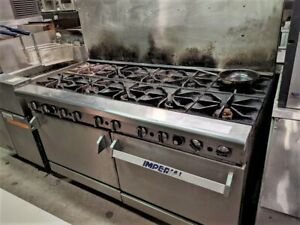 Imperial 10 Burner Gas Commercial Stove Oven