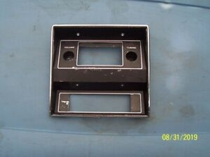 1971 73 Ford Mustang Original Radio And Control Panel Bezel