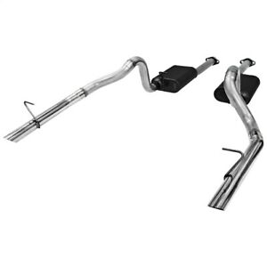 Flowmaster 817213 American Thunder Cat Back Exhaust System Fits 86 93 Mustang