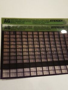 Steiger Panther 1000 Powershift Tractor Parts Catalog Manual Fiche Microfiche