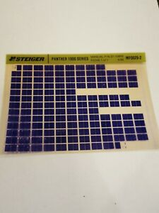 Steiger Panther 1000 Tractor Parts Catalog Manual Fiche Microfiche