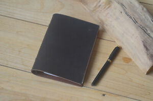 Leather A6 Binder Folio Cover Notepad handmade 6 Rings A6 Planner Folder Case