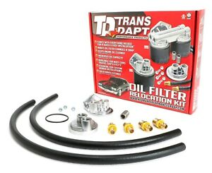 Trans dapt Performance Products 1120 Single Oil Filter Relocation Kit