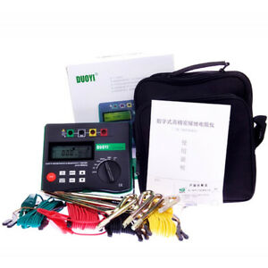 1pc 4 terminal Dy4300a Soil Resistivity Tester Earth Resistance Tester
