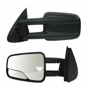 1999 2000 2001 2002 2007 Chevrolet Silverado Driver Side Manual Tow Mirror