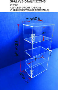 Acrylic Countertop Display removable Shelves