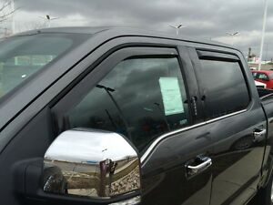 In channel Wind Deflectors 2016 2020 Toyota Tacoma Double Cab 4 door