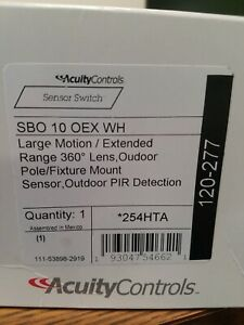 Sensor Switch Sbo 10 Oex Wh Large Motion extended Range 360 Lens Outdoor Pole f