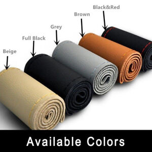 Microfiber Leather Auto Wheel Cover Diy Colors Car Steering With Needles Thread