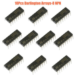 10pcs Uln2803a Uln2803 Transistor Array 8 Npn Ic Dip 18 Darlington Sink Driver