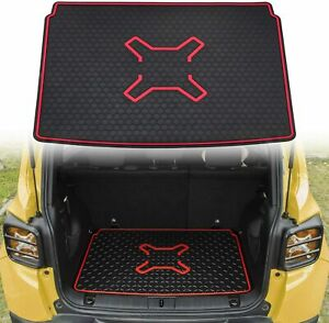 Trunk Tray Cargo Liner Rubber Floor Mats Protector For 2015 2019 Jeep Renegade