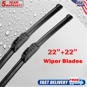 New Pair Of 22 Premium Windshield Wiper Blades All Season J Hook Bracktless