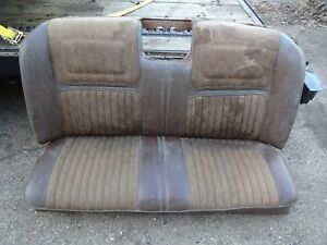 1968 1969 1970 Buick Riviera And Riviera Gs Brown Rear Back Seat