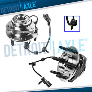 2 Front Wheel Bearing Hubs For Chevy Trailblazer Gmc Envoy Bravada Buick Rainer