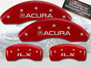2013 2015 acura Ilx Front Rear Red Mgp Brake Disc Caliper Covers 4pc Set