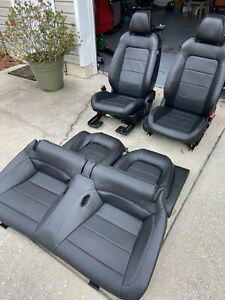 Ford Mustang Front Rear Seat Set Black Leather Power 15 16 17