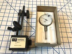 General Tools Mg1780 Plunger Dial Indicator W Craftsman Sears Magnetic Base