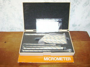 Mitutoyo 0 6 Inch Depth Micrometer Set No 129 128 W Case Sealed Packaging