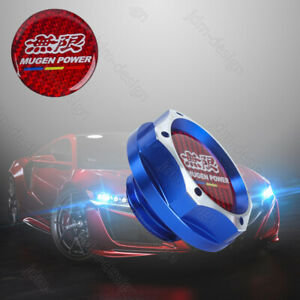Jdm Mugen Racing Blue 2 Tone Engine Oil Filler Cap Oil Tank Cover Aluminium