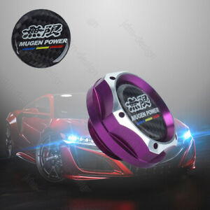 Jdm Mugen Racing Purple 2 Tone Engine Oil Filler Cap Oil Tank Cover Aluminium