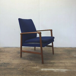Fritz Hansen Danish Modern Mid Century Teak Club Chair Armchair Lounge