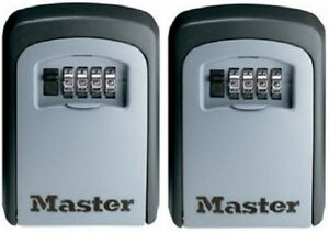 2 Ea Master Lock 5401d 4 Dial Resettable Combination Key Storage Lock Box