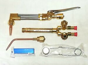 New Olsen Victor Style Cutting Welding Torch Set Attachment Handle Brazing Tip