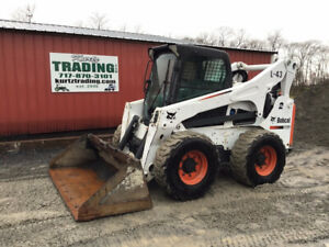 2015 Bobcat S850 Skid Steer Loader W Cab Joystick 2spd High Flow Only 2800hrs