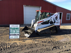 2014 Bobcat T650 Compact Track Skid Steer Loader W Cab 2spd Hight Flow 1100hrs
