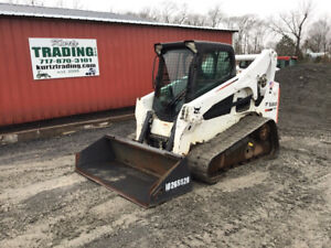 2014 Bobcat T770 Compact Track Skid Steer Loader W Cab 2spd High Flow 1500hrs