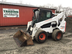 2013 Bobcat S750 Skid Steer Loader W Cab 2spd High Flow Kubota Diesel Engine
