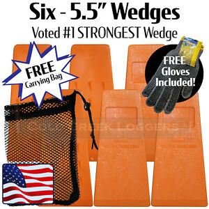 6 5 5 Usa Hard Logging Felling Bucking Tree Forestry Falling Spiked Wedges