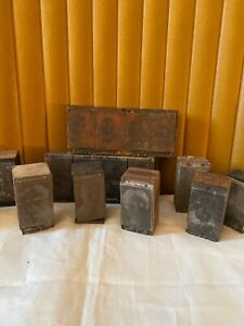 Vtg Lot 2 Of Wood Type Printing Blocks Var Sizes Inc Individually Named People