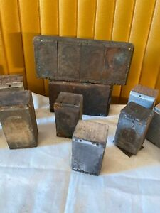 Vtg Lot 3 Of Wood Type Printing Blocks Var Sizes Inc Individually Named People