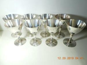 8 Tiffany Sterling Silver Wine Goblets 4 Inches X 2 57 Inches