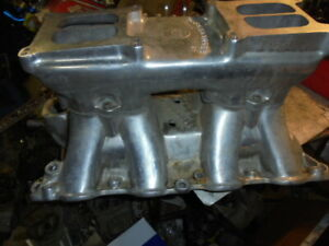 Aluminum Tunnel Ram Intake Bbf Polished Offy 5971 Ihra Nhra Rat Rod Street Gas