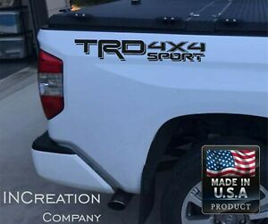 x2 Trd 4x4 Sport Decals For Toyota Tacoma Tundra 2016 2017 Vinyl Bed Graphics
