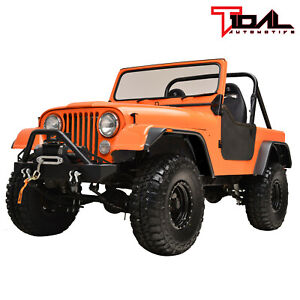 Tidal Fender Flares Flat Style Wide Body Fit 59 86 Jeep Wrangler Cj5 6 7