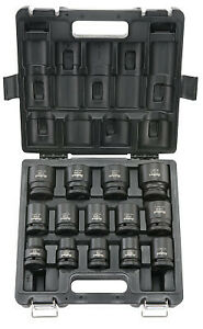 Standard Impact Socket Sets 1 2 In Drive 6 Point Inch