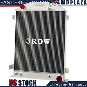 3 Row Aluminum Radiator For 1930 1931 Ford High Boy Coupe Chevy V8 Cu3132
