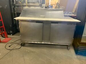 Beverage Air 48 Commercial Used Mega Top Sandwich Prep Table Cooler