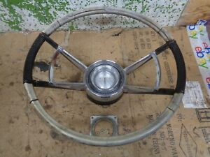 1960 Lincoln Mark V Continental Steering Wheel Horn Button Ring Trim 60 Oem