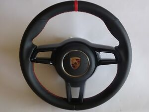 Porsche 991 997 2 Turbo Gt 2 Rs Stick Black Leather Red Steering Wheel A bag