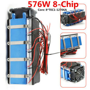 12v 576w Diy Thermoelectric Cooler Refrigeration Air Cooling 8 chip Tec1 12706