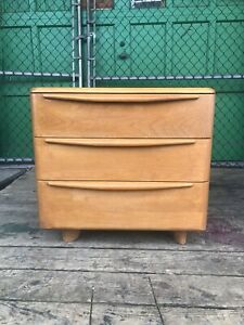 Mid Century Modern Three Drawer Dresser By Heywood Wakefield