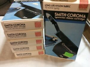 6 Smith corona Typewriter Ribbon Cartridge Red Nylon Fabric