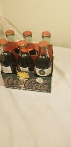 1996 Atlanta Olympic Coca Cola 6 Pack Bottles Full One Year To Go July 1995