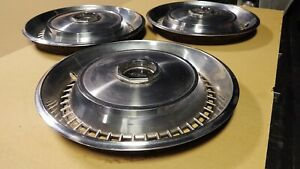 1972 1973 1974 Lincoln Continental Town Car Hubcaps Very Nice Set Of 3